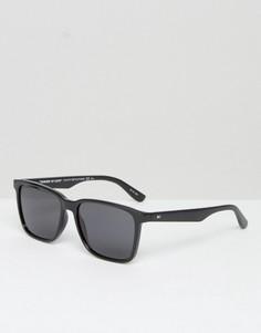 Черные солнцезащитные очки в квадратной оправе Tommy Hilfiger - Черный
