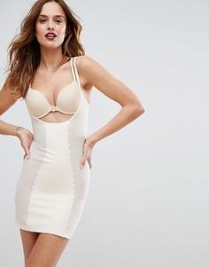 Моделирующее платье под любой бюстгальтер Hunkemoller Scallop - Кремовый