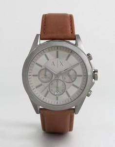Часы с хронографом и кожаным ремешком Armani Exchange AX2605 эксклюзивно для ASOS - Коричневый