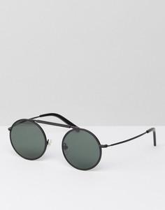 Черные матовые солнцезащитные очки в круглой оправе Han Kjobenhavn - Черный