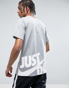 Серая футболка Nike Hybrid JDI 847614-063 - Серый