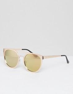 Солнцезащитные очки в стиле ретро с зеркальными стеклами ASOS - Золотой