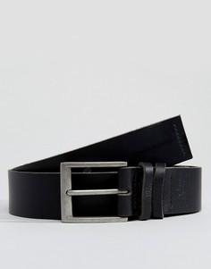 Черный кожаный ремень для джинсов Dead Vintage - Черный