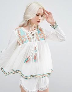 Блузка с кисточками Raga - Синий