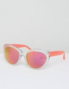 Солнцезащитные очки с блестками и неоновыми розовыми стеклами Markus Lupfer - Розовый