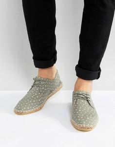 Серые эспадрильи со шнуровкой и звездами ASOS - Серый