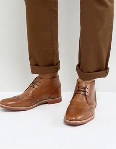 Кожаные ботинки чукка светло-коричневого цвета ASOS - Рыжий