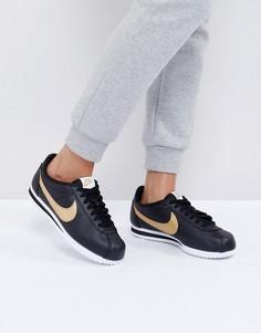 Кроссовки Nike Gold Pack Cortez - Черный