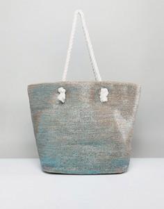 Сумка для покупок с веревочными ручками ASOS BEACH - Синий