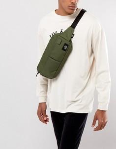 Широкая сумка-кошелек на пояс цвета хаки ASOS - Зеленый