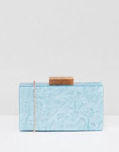 Мраморный клатч-футляр ASOS - Синий