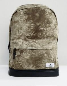 Рюкзак цвета хаки с принтом тай-дай ASOS - Зеленый