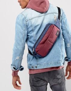Сине-бордовая широкая сумка-кошелек на пояс ASOS - Мульти