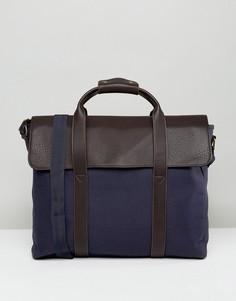 Темно-синяя парусиновая сумка-сэтчел ASOS - Темно-синий