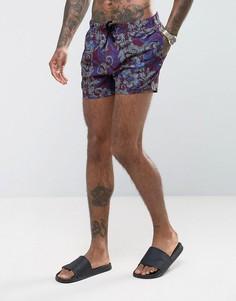 Короткие шорты для плавания с принтом пейсли ASOS - Красный