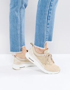 Светло-коричневые кроссовки с эффектом змеиной кожи Nike Air Max Thea - Мульти