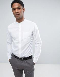 Премиум-рубашка узкого кроя из ткани с добавлением льна Jack & Jones - Белый