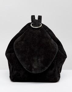 Замшевый рюкзак с кольцом ASOS - Черный