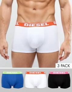 Набор из 3 боксеров-брифов с логотипом на поясе Diesel - Мульти
