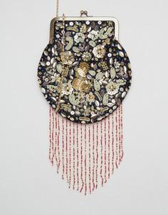 Декорированная сумка на плечо Park Lane - Красный