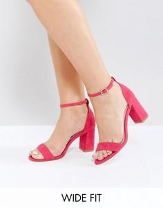 Розовые босоножки на каблуке для широкой стопы Faith - Розовый