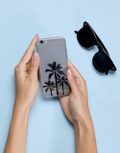 Чехол для Iphone 6 с принтом пальм Signature - Прозрачный
