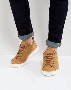 Серо-коричневые кроссовки из нубука PS by Paul Smith Miyata - Светло-серый
