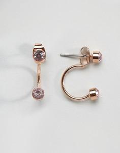 Серьги цвета розового золота Pieces - Золотой