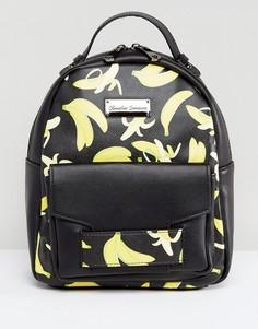 Рюкзак с маленьким карманом спереди и принтом Claudia Conova - Черный