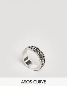 Массивное кольцо на мизинец ASOS CURVE - Серебряный