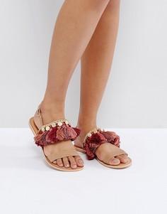 Кожаные сандалии ASOS FINCH - Рыжий