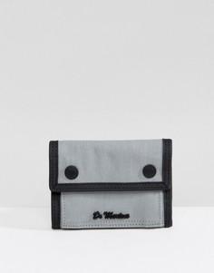 Серый кошелек в стиле милитари Dr Martens - Серый