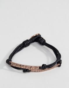 Черный тканый браслет Icon Brand - Черный
