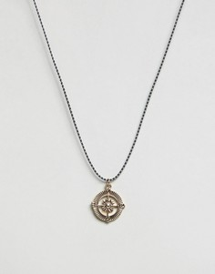 Ожерелье с подвеской-компасом Icon Brand - Черный