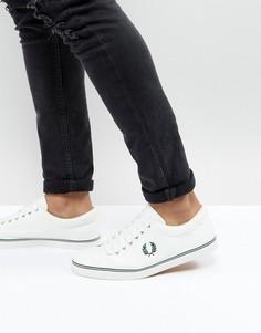 Парусиновые кроссовки из пике Fred Perry Underspin - Белый
