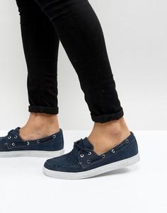 Выбеленные темно-синие парусиновые мокасины Armani Jeans - Темно-синий