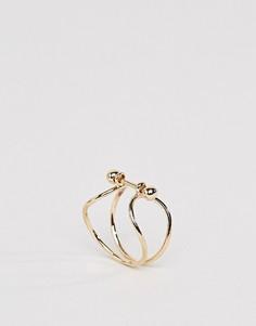 Кольцо ограниченной серии с золотистым покрытыием - Золотой Asos