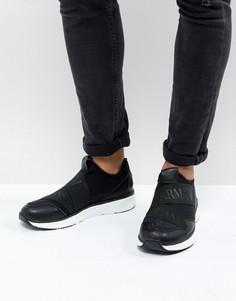Черные кроссовки Armani Jeans - Черный