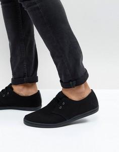 Низкие парусиновые кроссовки Fred Perry Byron - Черный