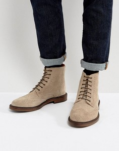 Замшевые ботинки броги Walk London Darcy - Серый