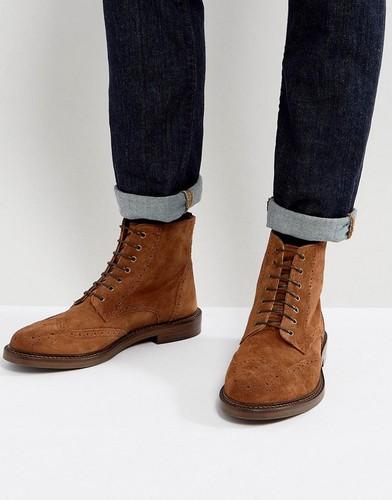 Замшевые ботинки броги Walk London Darcy - Рыжий