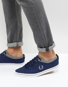 Саржевые кроссовки Fred Perry - Темно-синий