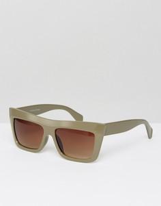 Солнцезащитные очки в массивной квадратной оправе Jeepers Peepers - Серый