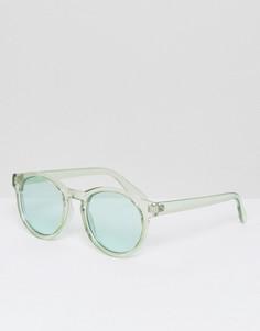 Круглые солнцезащитные очки с зелеными затемненными стеклами AJ Morgan - Зеленый