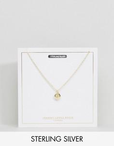 Позолоченное ожерелье со знаком зодиака Рак Johnny Loves Rosie - Золотой