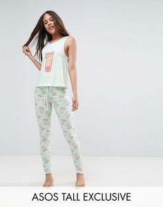 Пижамный комплект ASOS TALL Make Mine A Tall One - Зеленый