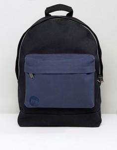 Черно-синий парусиновый рюкзак Mi-Pac - Черный