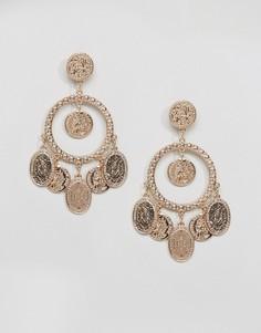 Серьги с монетами Ashiana - Золотой