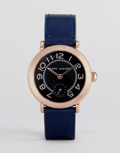 Часы с темно-синим кожаным ремешком Marc Jacobs Riley - Золотой