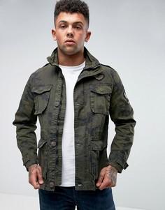Камуфляжная куртка с карманами Tokyo Laundry - Зеленый